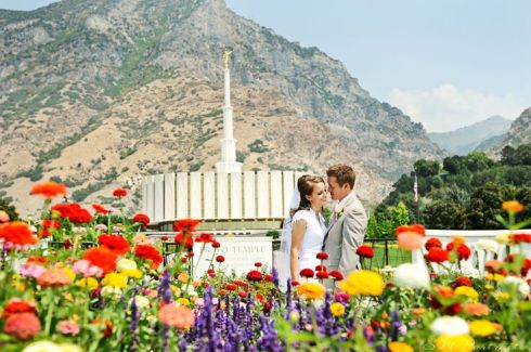 Provo Utah Temple Wedding