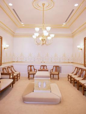 Vernal Utah Temple sealing room